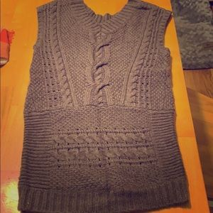 Free people size small brown knit vest